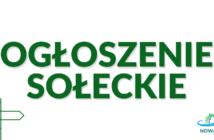 Ogłoszenia sołeckie sołtysa wsi Nowa Biała