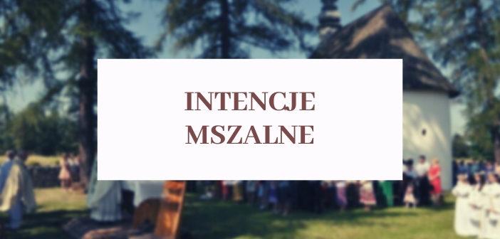 Intencje mszalne - parafia św. Katarzyny Aleksandryjskiej w Nowej Białej
